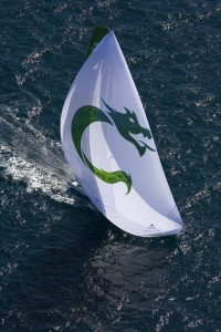 The Green Dragon Team during the Alicante In-Port racing in the Volvo Ocean Race.  Photograph: David Branigan/Oceansport